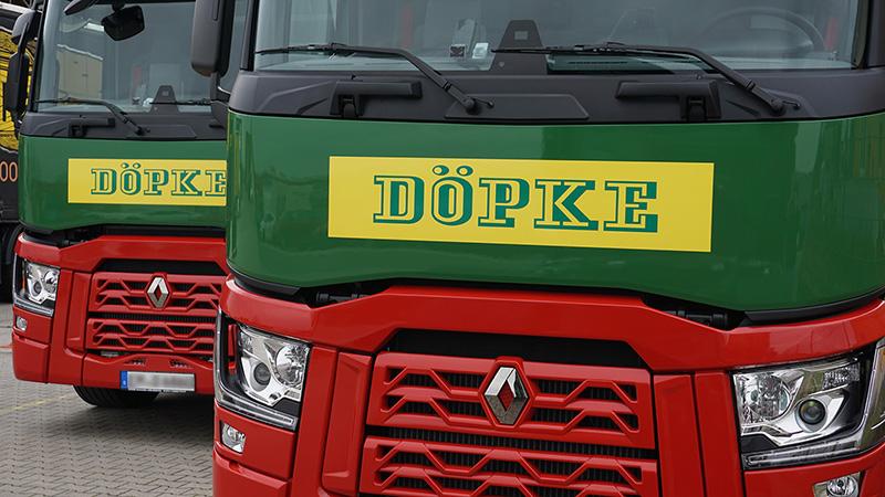 Inbetriebnahme Von Fünf Neuen Renault T-Trucks (EURO 6)
