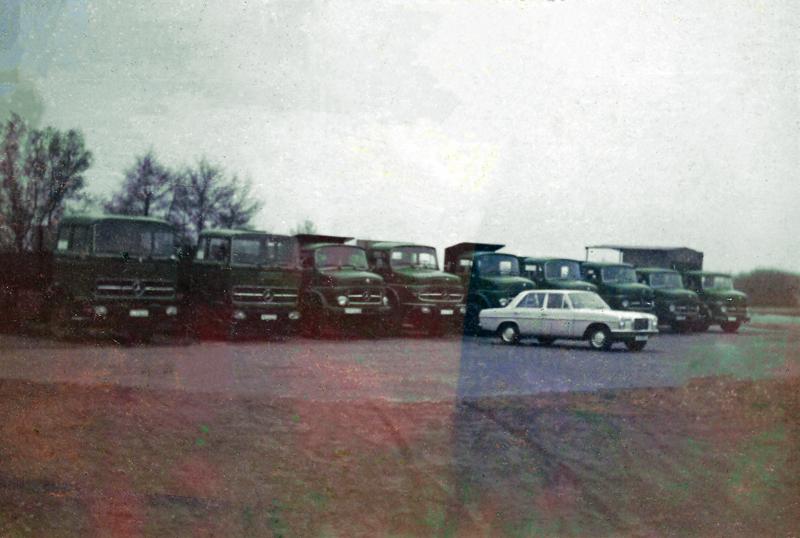 Der Fuhrpark im Jahr 1972