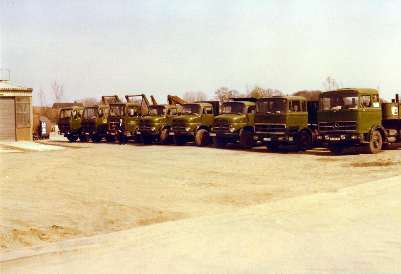 Der Fuhrpark im Jahr 1978