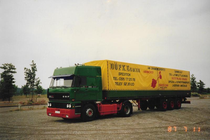 1987: DAF für den Spanien-Verkehr