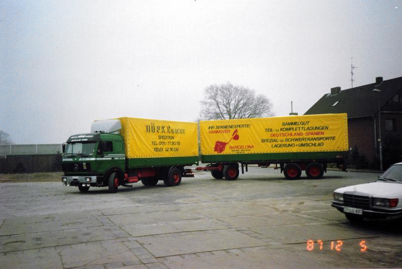 1987: Auch ein Hängerzug für den Spanienverkehr